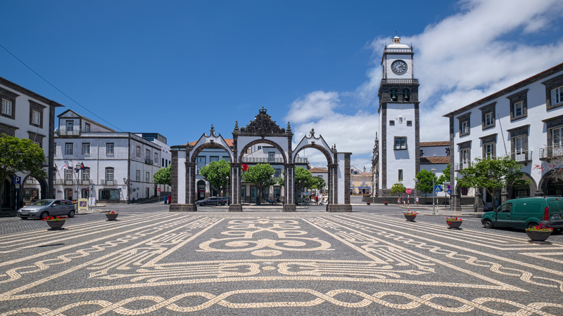 The City Gates (Portas da Cidade) is a popular spot in Ponta Delgada.